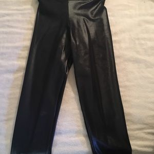 Black Milk 3/4 length wet look leggings